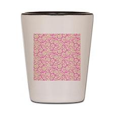 Unique Pink damask Shot Glass