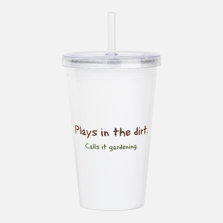 Plays In Dirt Acrylic Double-Wall Tumbler