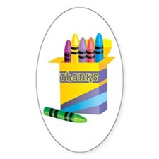 Gifts for Preschool Teachers Oval Decal