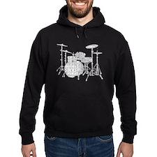 Drum Set Shaped Word Cloud Hoodie
