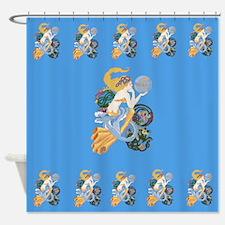 Celtic Afor Aquarius Mermaid Shower Curtain