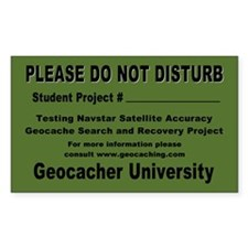 """Student Project"" Geocache Decal"