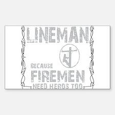lineman because 1 Decal