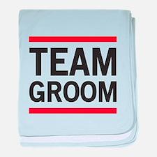 Team Groom baby blanket