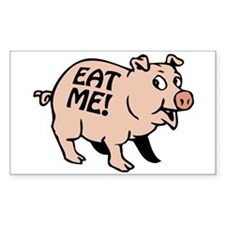 Pinky the BBQ Pig Rectangle Decal