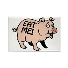 Pinky the BBQ Pig Rectangle Magnet