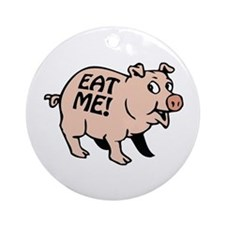 Pinky the BBQ Pig Ornament (Round)