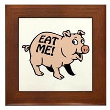 Pinky the BBQ Pig Framed Tile