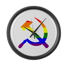 Funny Hammer and sickle Large Wall Clock