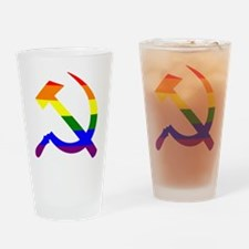 Funny Hammer and sickle Drinking Glass