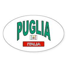 Puglia Italy Oval Decal