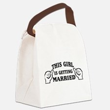 This Girl is Getting Married Canvas Lunch Bag