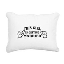 This Girl is Getting Married Rectangular Canvas Pi