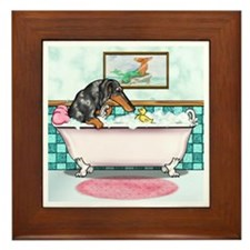 Rub-a-Dub Dapple Framed Tile