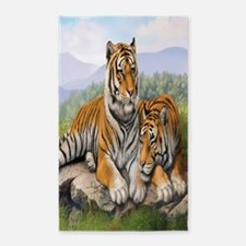 tigers curtains84 3'x5' Area Rug