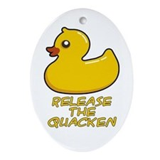 Release the Quacken Ornament (Oval)