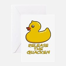 Release the Quacken Greeting Cards