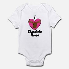 I Love Chocolate Moose Infant Bodysuit