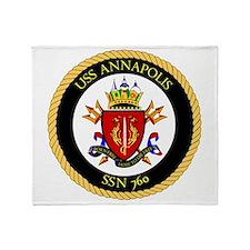 Uss Annapolis Ssn-760 Throw Blanket