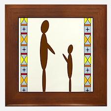 Dad & Son Framed Tile