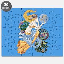 celtic a for aquarius mermaid Puzzle