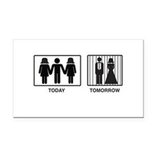 Today...Tomorrow Rectangle Car Magnet