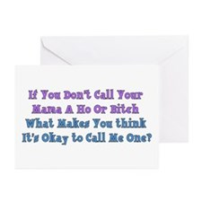 Don't Call Me Ho Or Bitch Greeting Cards (Package