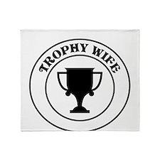 Trophy Wife Throw Blanket