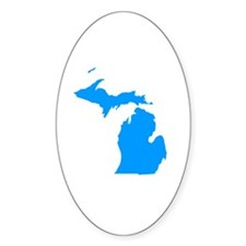 Blue Michigan Decal