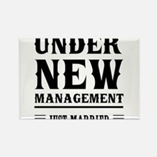 Under New Management Just Married Magnets