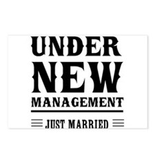 Under New Management Just Married Postcards (Packa