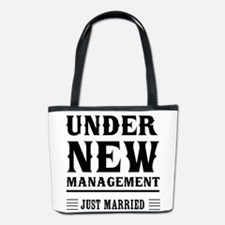 Under New Management Just Married Bucket Bag