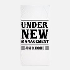 Under New Management Just Married Beach Towel