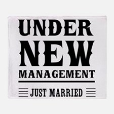 Under New Management Just Married Throw Blanket