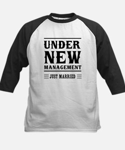 Under New Management Just Married Baseball Jersey