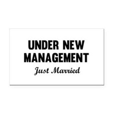 Under New Management Just Married Rectangle Car Ma
