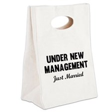 Under New Management Just Married Canvas Lunch Tot