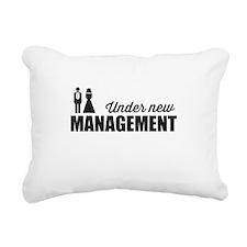 Under New Management Rectangular Canvas Pillow