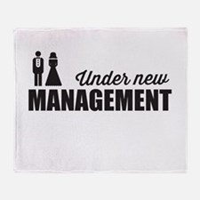Under New Management Throw Blanket