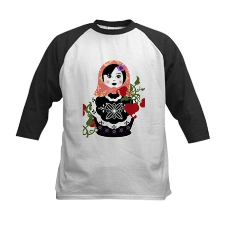 Nesting Doll In Flowers Baseball Jersey