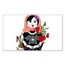 Nesting Doll In Flowers Decal