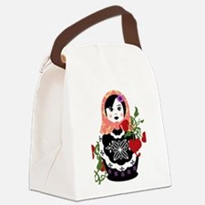 Funny Russia doll Canvas Lunch Bag