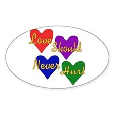 End Domestic Violence Oval Decal