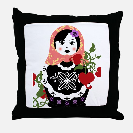 Funny Russian Throw Pillow