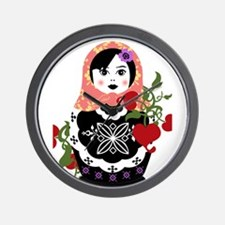 Cute Russian doll Wall Clock