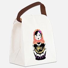 Unique Russia doll Canvas Lunch Bag