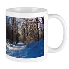 Snow Trail Scenery Small Mugs