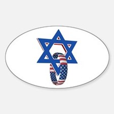 Star of David and United States Ring Decal