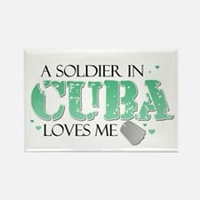 A soldier in Cuba loves me Rectangle Magnet