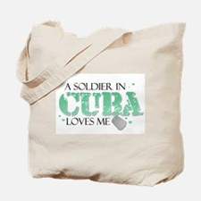 A soldier in Cuba loves me Tote Bag